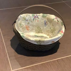 Longaberger medium crocus basket w liner protector